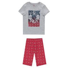 Junior - Pyjama en jersey avec print esprit sportswear