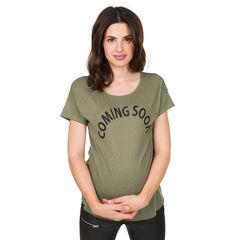 Tee-shirt de grossesse manches courtes à message