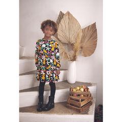 Robe manches longues imprimée fleurs pour enfant fille , Orchestra