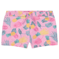 Short en jersey slub imprimé all-over
