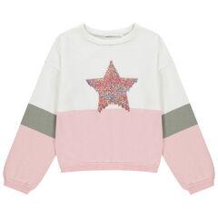 Pull en tricot bicolore à étoile iridescente  , Orchestra