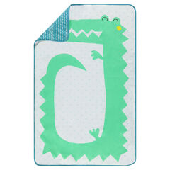 Edredon en popeline motif crocodile 80 x 125 cm