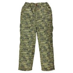 Pantalon doublé micropolaire à motif style army