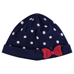 Bonnet en jersey imprimé pois all-over
