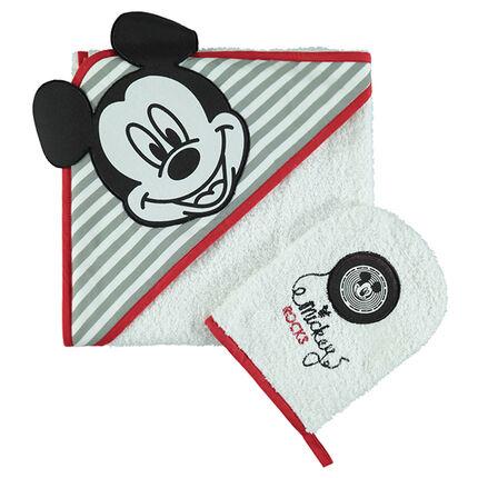 Set de bain en éponge brodé Disney Mickey