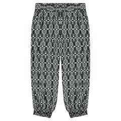 Pantalon loose fluide imprimé ethnique