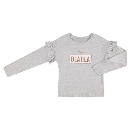 Junior - Tee-shirt manches longues en jersey avec manches volantées