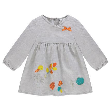 Robe en coton fantaisie avec motifs colorés