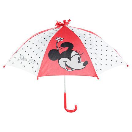 Parapluie avec pans à pois et print Minnie Disney