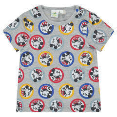 Tee-shirt manches courtes Disney print Mickey all-over