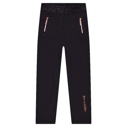 Legging en milation avec taille brillante et poches zippées