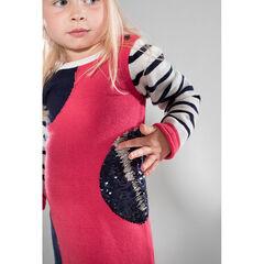 Robe manches longues en tricot avec sequins magiques