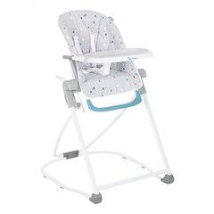 Chaise haute compacte réglable – Chevrons gris