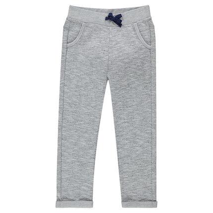 Pantalon en molleton chiné