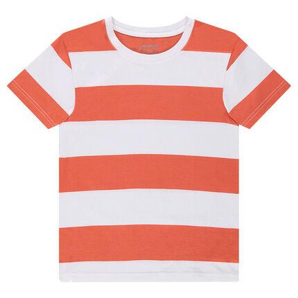 Junior - Tee-shirt manches courtes à bandes contrastées