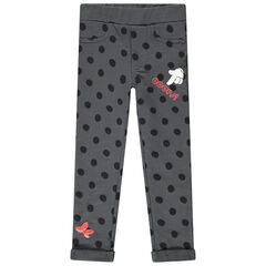 Jegging en molleton slub à pois prints Minnie Disney