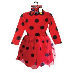 Déguisement robe manches longues Ladybug taille unique 5-8 ans