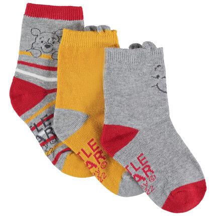 Lot de 3 paires de chaussettes assorties Winnie l'Ourson Disney