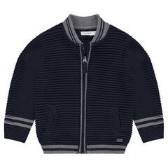 Gilet en tricot fantaisie zippé