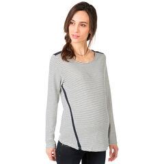 Tee-shirt de grossesse manches longues avec liens au dos
