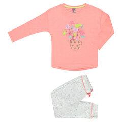 Pyjama long avec print fantaisie
