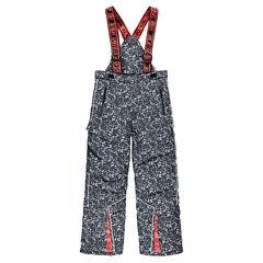 Junior - Pantalon de ski avec imprimé graphique et bretelles amovibles