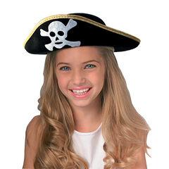 Chapeau de pirate motif tête de mort , Rubie'S
