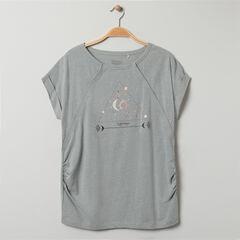 T-shirt homewear de grossesse pressionné à imprimé esprit astro , Prémaman