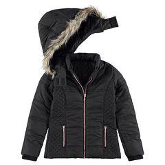 e4f98d5df6840 Junior - Doudoune matelassée avec doublure sherpa et capuche amovible