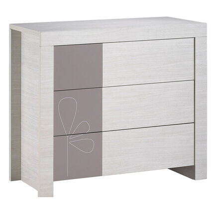 commode opale taupe avec d cor 3 tiroirs orchestra fr. Black Bedroom Furniture Sets. Home Design Ideas