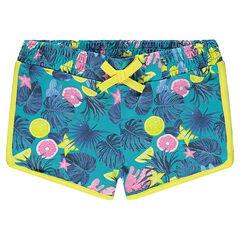 Junior - Short imprimé tropical