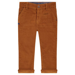 Pantalon en velours milleraies