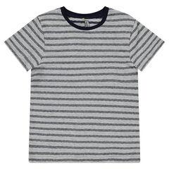 Junior - Tee-shirt manches courtes à rayures fantaisie