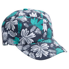 Casquette en coton avec imprimé tropical all-over