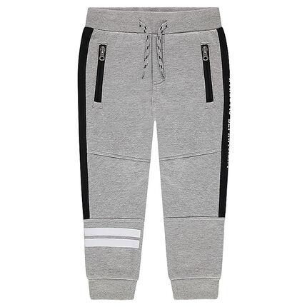 pantalon de jogging avec bandes printées et poches zippées