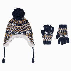 c44978c6e0d6 Ensemble bonnet péruvien doublé polaire et gants motifs jacquard