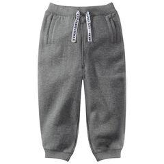 Pantalon de jogging en molleton à cordons imprimés