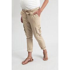 Pantalon de grossesse fluie uni à poches