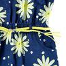 Combishort en maille fantaisie avec fleurs printées et ceinture tressée