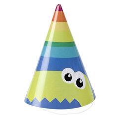 Lot de 10 chapeaux d'anniversaire en carton motif Dragon