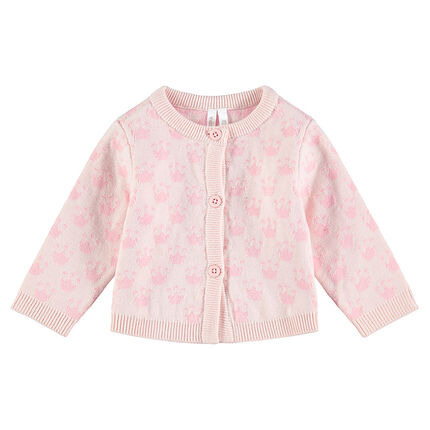Gilet en tricot avec motif jacquard all-over
