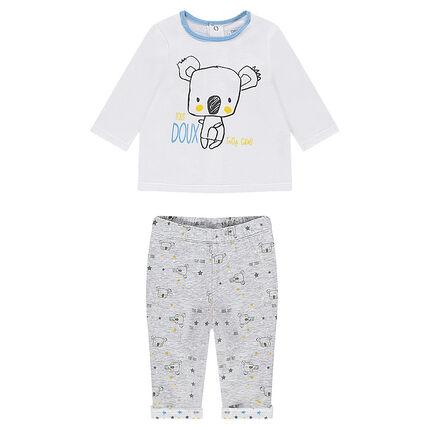 Pyjama en jersey avec koalas printés