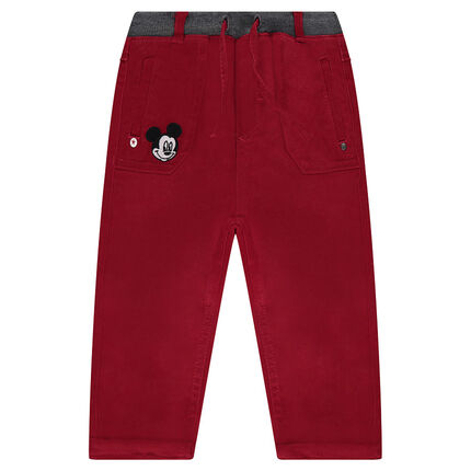 Pantalon en twill Disney avec badge Mickey