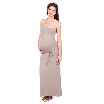 Robe longue de grossesse bustier