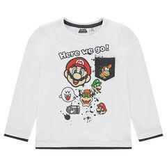 Tee-shirt manches longues en jersey avec personnages de Super Mario™ printés