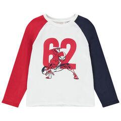 T-shirt manches longues en coton bio print Spiderman