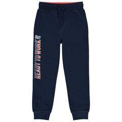 Pantalon de jogging en molleton à inscription printée
