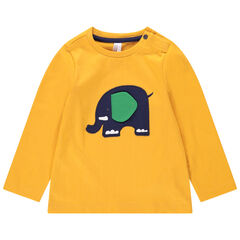 T-shirt manches longues en jersey avec éléphant patché