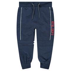 Pantalon de jogging en molleton inscriptions printées