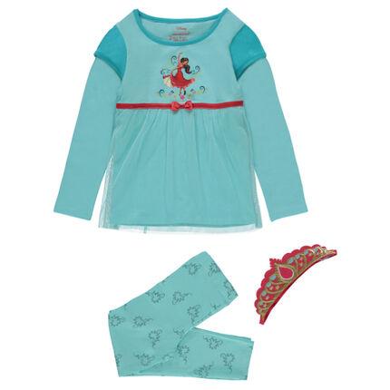 Pyjama déguisement Disney print Éléna d'Avalor avec diadème